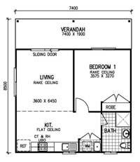 full brochure pricing for this 1 bedroom granny flat steel kit home