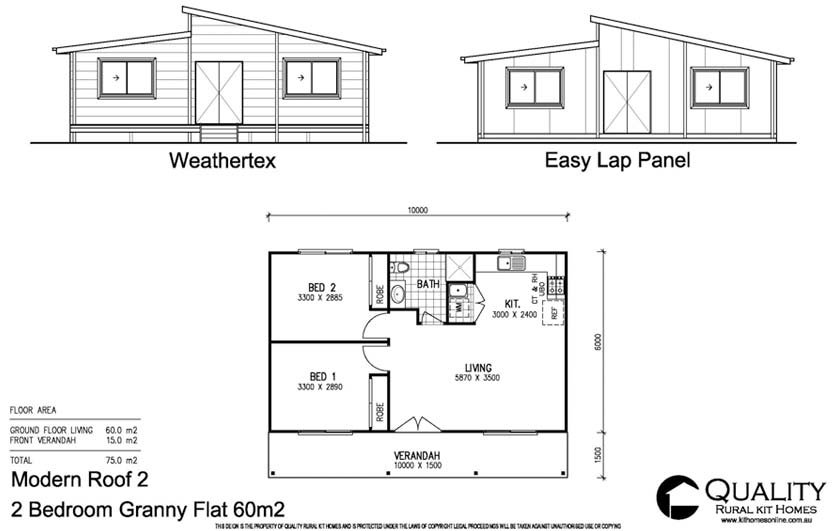 full brochure pricing for this 2 bedroom granny flat steel kit home